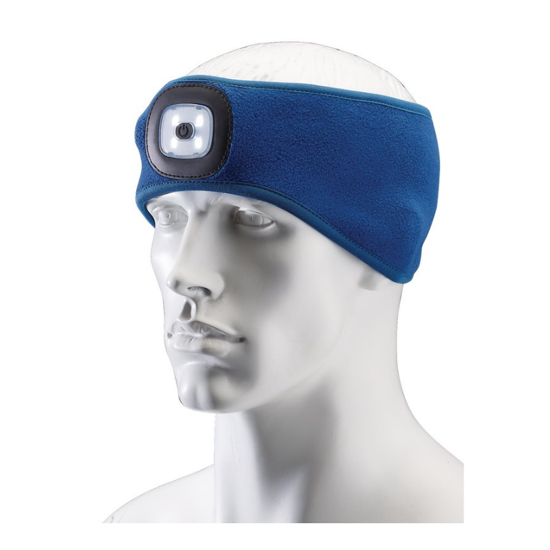 Draper 95171 Headband with USB Rechargeable Led Torch, 1w, Blue, One Size