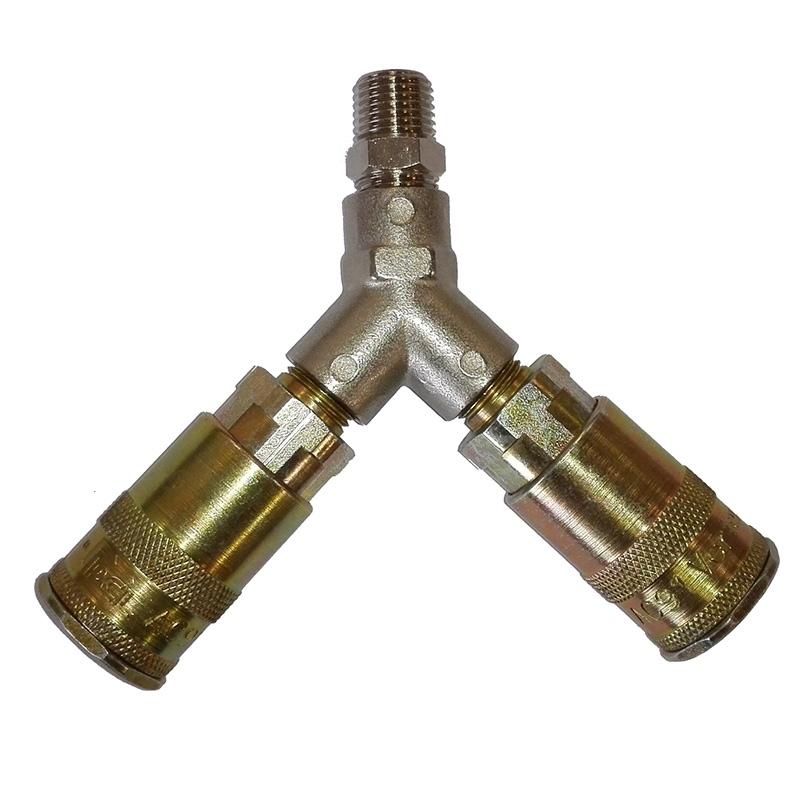 Air Compressor Y Piece Quick Release Connector Splitter