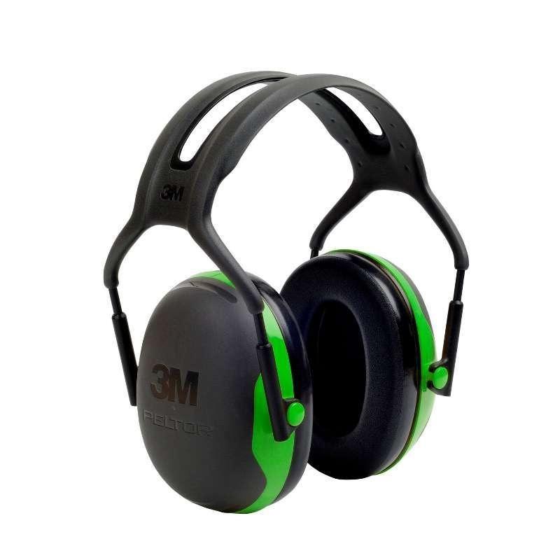 3M Peltor X1A Ear Defenders (Black/Green)