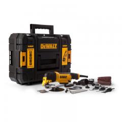 DeWalt DWE315KT Multi Tool with Tool-Less Accessory Change, 37 Accessories & TStak Case (240V)