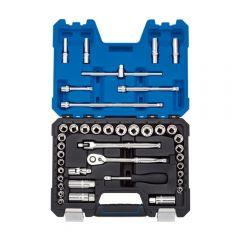 """Draper 16465 Combined MM/AF Socket Set, 3/8"""" Sq. Dr. (41 Piece)"""