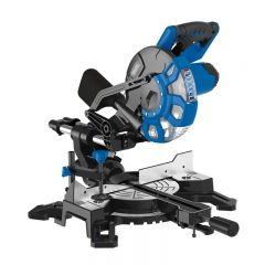 Draper 83677 210mm Sliding Compound Mitre Saw with Laser Cutting Guide (1500W)