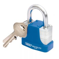 Draper 64181 44mm Laminated Steel Padlock and 2 Keys