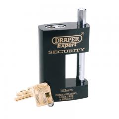 Draper 64205 Heavy Duty Close Shackle Padlock and 2 Keys, 103mm