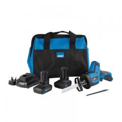 Draper 99728 Draper Storm Force 10.8V Power Interchange Reciprocating Saw Kit (+2 x 4Ah Batteries, Charger and Bag)
