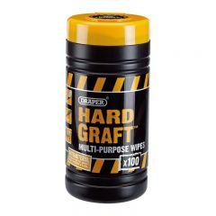 Draper 84711 'Hard Graft' Wipes (Tub of 100)