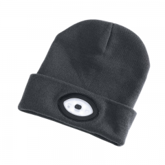 Draper 99522 Beanie Hat with Rechargeable Torch, One Size, 1W, 100 Lumens, Grey