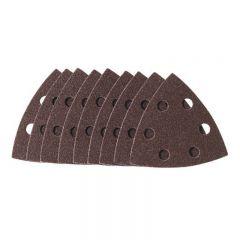 Draper 63363 10-Pack 80-Grit Hook and Loop Aluminium Oxide Tri-Base Sander Sheets