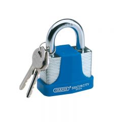 Draper 64183 65mm Laminated Steel Padlock and 2 Keys