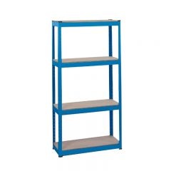 Draper 21658 Steel Shelving Unit - Four Shelves (L760 x W300 x H1520mm)