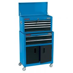 """Draper 19563 24"""" Combined Roller Cabinet and Tool Chest (6 Drawer)"""