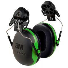 3M Peltor X1P3  Ear Defenders, Helmet Mounted (Black/Green)