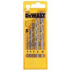 DeWalt DT6952QZ Masonry Drill Set 5 Piece 4-10mm