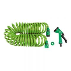 Draper Recoil Hose With Spray Gun And Tap Connector (10M)