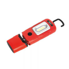 Sealey LED3601R Rechargeable 360° Inspection Light 3W COB & 1W SMD LED Red Lithium-Polymer