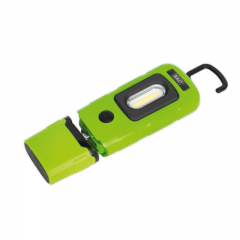Sealey LED3601G Rechargeable 360° Inspection Light 3W COB & 1W SMD LED Green Lithium-Polymer