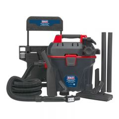 Sealey Garage Vacuum 1500W with Remote Control - Wall Mounting