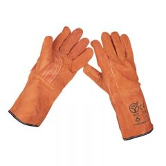 Sealey Leather Welding Gauntlets Lined Heavy-Duty Extra-Large - Pair