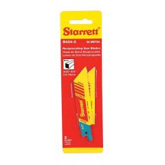 """Starrett B424-2, Fast Cut General Purpose Bi-Metal, Reciprocating Blades, 4"""" x 3/4 x .035 x 24 Tpi, Straight Shape, 2 Pack"""
