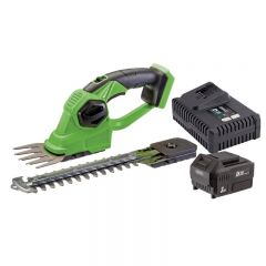 Draper 94594 D20 20V 2-in-1 Grass And Hedge Strimmer With Battery And Fast Charger