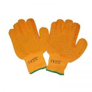 Gripper Gloves Orange Criss Cross Safety Gloves