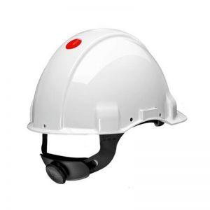 3M PELTOR G3000 Safety Helmet with Uvicator Sensor, Pinlock, Dielectric, 1000v, White, G3001DUV1000V-VI