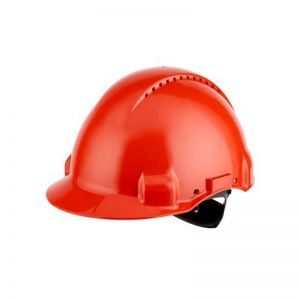 3M PELTOR G3000 Safety Helmet with Uvicator Sensor, Ratchet suspension, Ventilated, Red, G3000NUV-RD
