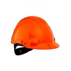 3M PELTOR Hard Hat Helmet G3000 with Uvicator Sensor, Ratchet suspension, Ventilated, Orange, G3000NUV-OR