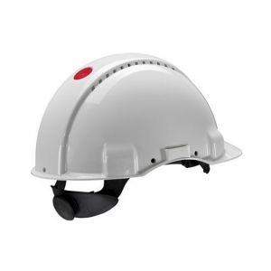 3M PELTOR G3000 Safety Helmet with Uvicator Sensor, Ratchet suspension, Ventilated, White, G3000NUV-VI