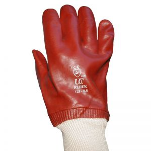 Ultimate Redek R125-9.5 PVC Knitted Wrist Safety Gloves