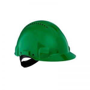 3M G3000 Safety Helmet, Uvicator, Pinlock, Ventilated, Green, G3000CUV-GP