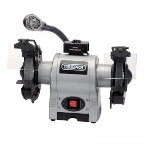 Draper 05095 150mm 370W 230V Bench Grinder With Worklight