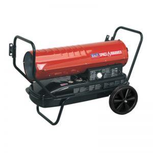 Sealey AB1258 Space Warmer® Paraffin/Kerosene/Diesel Heater 125,000Btu/hr with Wheels