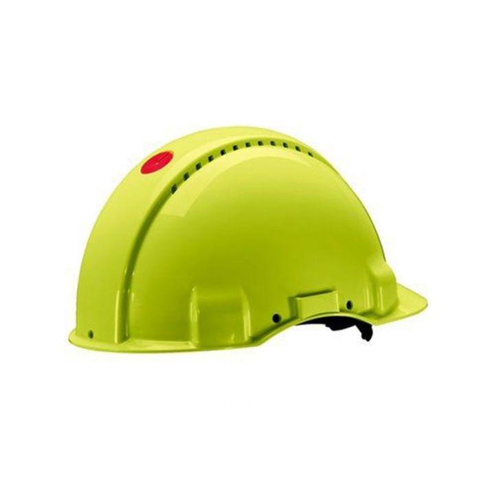 3M PELTOR G3000 Safety Helmet with Uvicator Sensor, Ratchet suspension, Ventilated, High-Viz, G3000NUV-GB