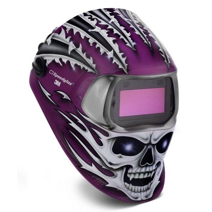 3M Speedglas 100 Welding Helmet - Raging Skull