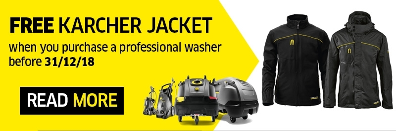 Free Karcher Jacket with Professional washer